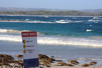 Parry Beach Entrance to Mazzoletti Beach
